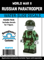 World War II Russian Paratrooper - Complete Figure - Water-Slide Decals