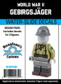 World War II Gebirgsjäger - 3 Figure Squad Pack- Water-Slide Decals
