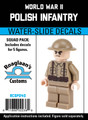 World War II Polish Infantry - Squad Pack- Water-Slide Decals