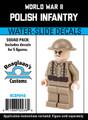 World War II Polish Infantry - Squad Pack- Water-Slide Decals