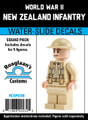 World War II New Zealand Infantry - Squad Pack- Water-Slide Decals