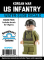 Korean War US Infantry - Squad Pack- Water-Slide Decals