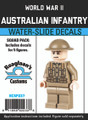 World War II Australian Infantry - Squad Pack- Water-Slide Decals