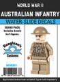 World War II Australian Infantry - Squad Pack- Water-Slide Decals
