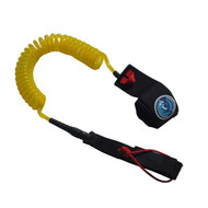 Kai 10 foot 8mm Pro Yellow Coiled SUP Ankle Leash