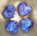 Charoite Gemstone Heart . Rare Stone of Transformation . Emotional Healing, Stress Anxiety, Panic, Blood Pressure, Insomnia and More