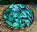 Malachite Tumbled Gemstone Set of 2 . Crystal Gemstone Healing, Wisdom, Power, Strength, Blockages, New Beginnings