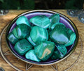 Malachite Tumbled Gemstone Large . Crystal Gemstone Healing, Wisdom, Power, Strength, Blockages, New Beginnings