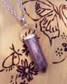 Rhodonite Pendulum Necklace . Self Confidence, Reduce Stress, Ease Physical Emotional Trauma, Balance, Healing