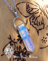 Opalite Pendulum Necklace . Meditation, Communication, Success, Peace, Sleep, Release Worry, Fear, Sex
