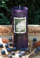 Forest Berry Harvest . Lughnasadh, Mabon Candle . Sugared Forest Ripened Blackberries, Boysenberries, Blueberries