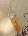 Citrine Gemstone Pendulum Necklace . Success, Business, Prosperity, Luck, Healing, Clearing and Absorbing Negative Energies