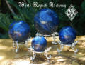 Lapis Lazuli Spheres . Crystal Gemstone Knowledge, Wisdom, Deity Workings, Intuition, Shields Negativity, Evil Eye