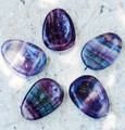 Fluorite Worry Stones . Psychic Shielding, Protection, Healing, Reduces Stress and Anxiety