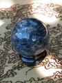 Sodalite Gemstone Sphere . Healing, Intuition, Knowledge, Creativity, Luck, Peace