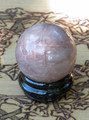 Wolfs Eye Black Moonstone Gemstone Sphere . Lunar Magick, Intuition, Protection, Love, Mental Clarity and Stability