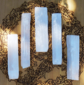 """Selenite Wand Natural 5"""" . Clarity, Intuition, Mental Focus and Dispelling Blockages, Fertility"""