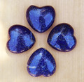Lapis Lazuli Heart . Crystal Gemstone Knowledge, Wisdom, Deity Workings, Intuition, Shields Negativity, Evil Eye