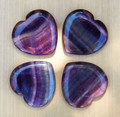 Fluorite Heart . Psychic Shielding, Protection, Healing, Reduces Stress and Anxiety