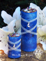 Blue Moon Celestial Lunar Alchemy Pillar Candle 2x3 for Full Moon Rites, Esbats