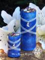 Blue Moon Celestial Lunar Alchemy Pillar Candles . Full Moon Rites, Esbats