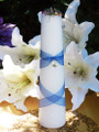 Full Moon Lunar Alchemy Taper Pillar Candle . Mariposa Lily, Jasmine, Cherry Blossoms, Fairy Rose