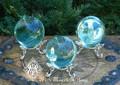 Aqua Aura Obsidian Spheres . Communication, Truth, Spirituality, Protection