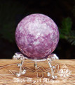 Lepidolite Sphere . Mica . Anxiety, Stress, Peace, Calming Stone
