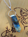 Azurite Gemstone Pendulum Necklace . Crystal Visions, Spiritual Seekers, Meditation, Chakras