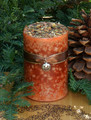 *Pumpkin Pillar Candles . Sugared Pumpkin, Cinnamon, Clove, Ginger, Lemon, Madagascar Vanilla and Crea