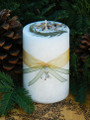 North Woods Winter White Magick . Pillar Candle . Yule, Winter Solstice, Christmas