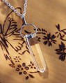 Crystal Quartz Point Pendulum Necklace . Ultimate Power Stone