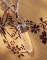 Crystal Quartz Point Pendulum Necklace . Ultimate Power Stone