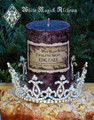 Twelfth Night KING CAKE Pillar Candle . Traditional Twelfth Cake
