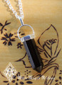 Black Obsidian Pendulum Necklace . Protection, Peace, Negative Energies