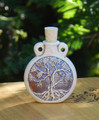 *Tree of Life Ceramic Bottle Natural . Spell Oils, Diffuser, Ashes, Pendant