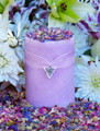 Brigids Bouquet Imbolc Alchemy Pillar Candles with Violet, Lily, Heather, Lavender, Hyacinth, WIld Jasmine, Winter Orchid