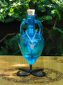 Potion Bottle FAIRY with Metal Stand - Avalon Blue with Silver Fairy Charm