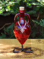 Potion Bottle LOVE with Metal Stand - Scarlet Red with Silver Heart Charm
