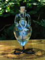 Potion Bottle CRYSTAL with Metal Stand - Crystal with Silver Tree of Life Charm