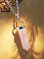 Rose Quartz Pendulum Necklace . Love, Compassion, Healing