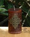 Elizabeta . Medieval Alchemy Pillar Candle . Lilac, Gardenia, Jasmine, Golden Amber