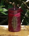 Mina . Medieval Alchemy Pillar Candle . Night Blooming Jasmine, Hibiscus, Heather, Camillia, Faerie Rose and Sugared Dark Amber