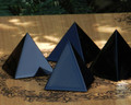 "Black Obsidian Glossy Crystal Gemstone Pyramid 2"" . Negative Energies, Stress and Anxiety"