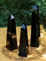 Black Obsidian Glossy Obelisks . Deflect Negative Energies, Stress, Anxiety