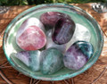 Fluorite Crystal Tumbled Gemstone Large Jumbo. Reducing Stress, Anxiety