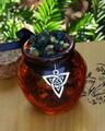 Trinity . Honey Heartwood Resin Pot