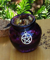 Peaceful Witch . Honey Heartwood Resin Pot