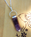 "Amethyst Pendulum Necklace . The ""Change Stone"", Protection, Spiritual Transformation, Healing"