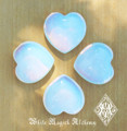 "Opalite Gemstone Heart . ""Stone of Eternity"". Meditation, Understanding, Removes Blockages"
